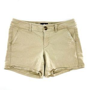American Eagle Khaki Midi Casual Shorts